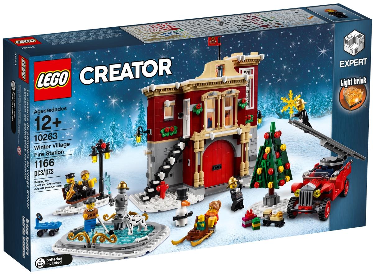 lego 10263 hasicska stanice v zimni vesnici