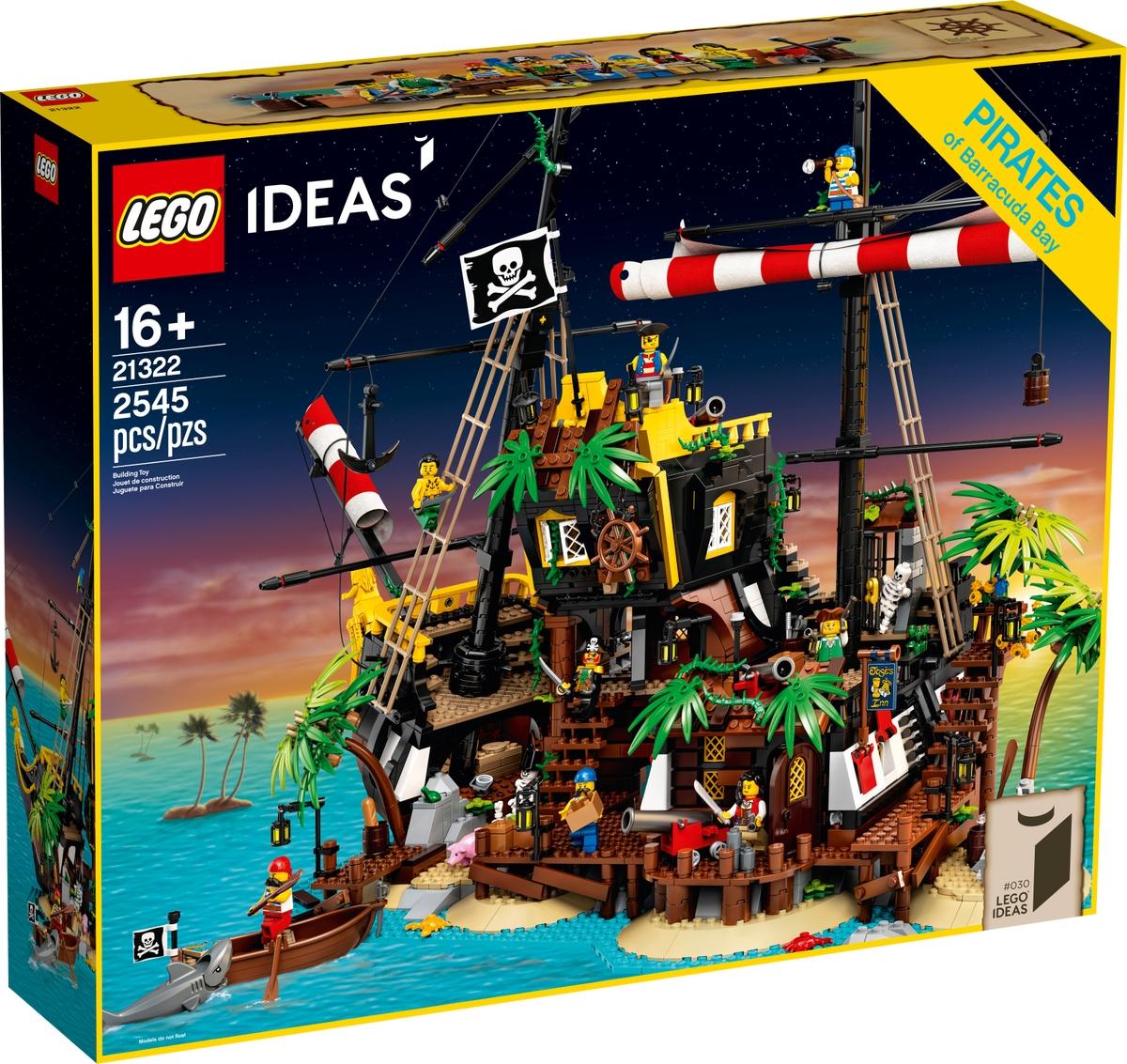 lego 21322 zatoka piratu z lode barakuda