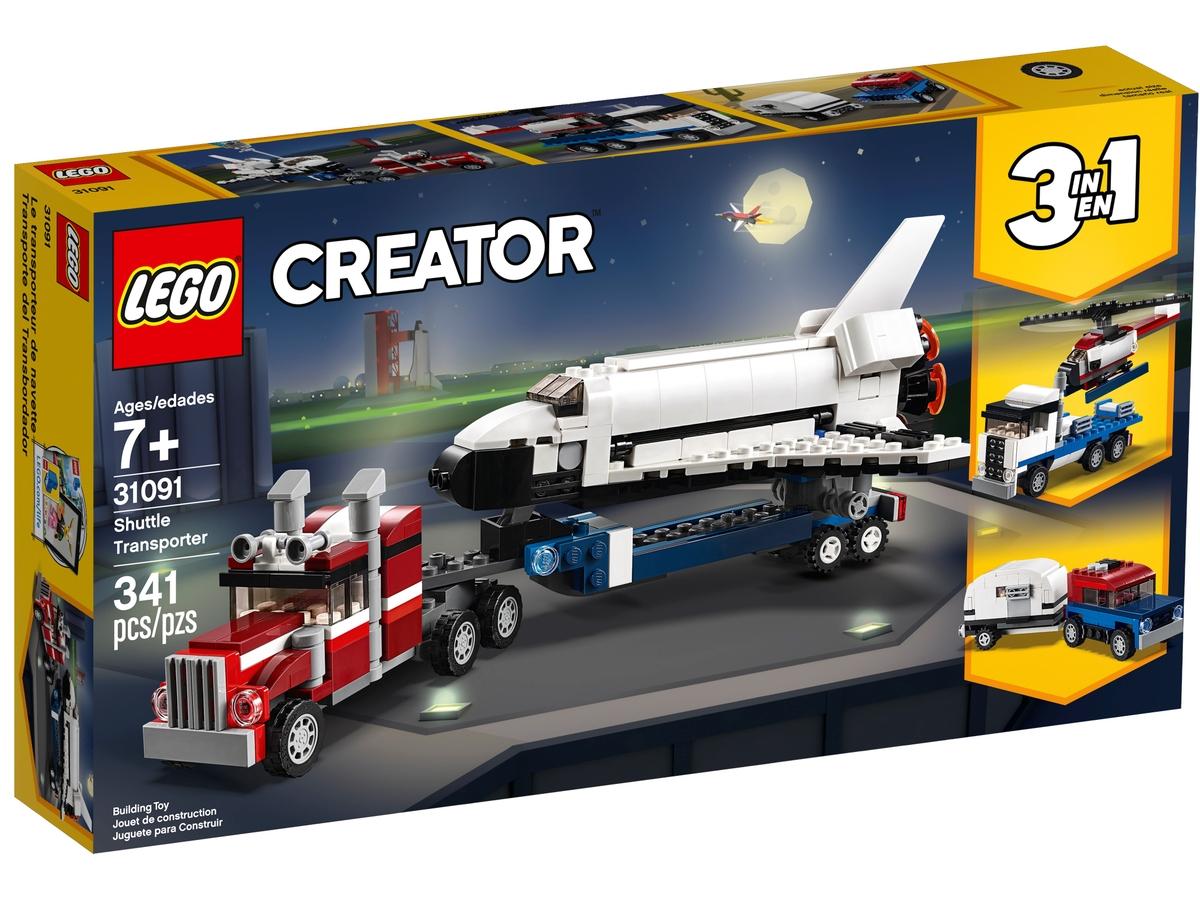 lego 31091 preprava raketoplanu