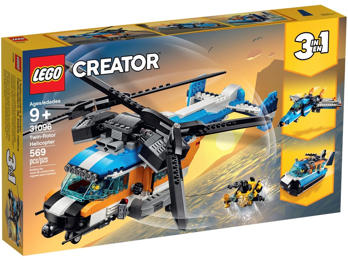 lego 31096 helikoptera se dvema rotory