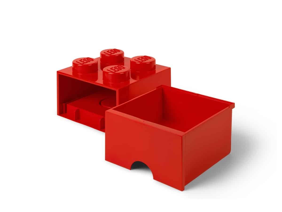 lego 5006129 cerveny ulozny box ve tvaru kostky se 4 vystupky