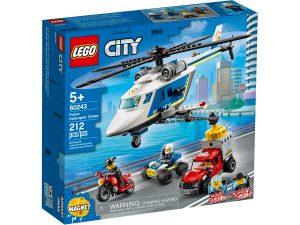 lego 60243 pronasledovani s policejni helikopterou