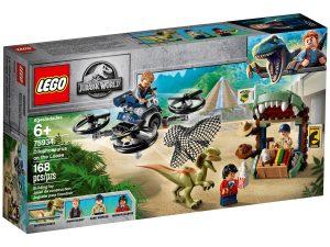lego 75934 dilophosaurus na uteku