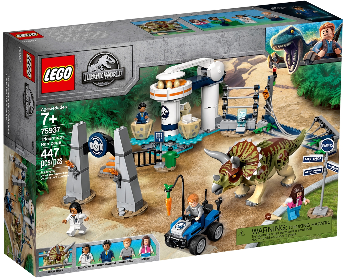 lego 75937 triceratopsovo besneni