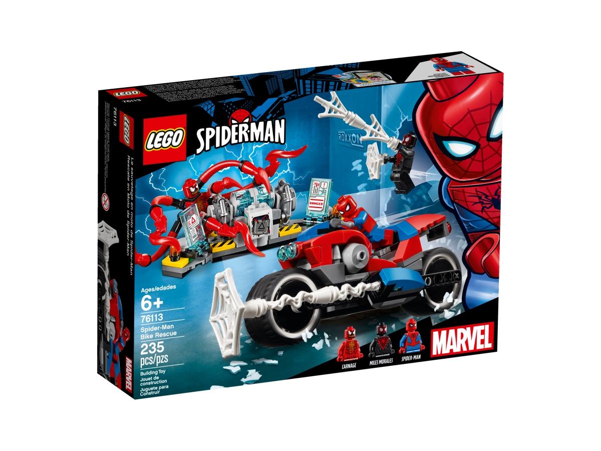 lego 76113 spider man a zachrana na motorce