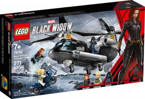 lego 76162 black widow a honicka ve vrtulniku
