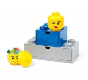 miniaturni lego 5006211 ulozny box hlava minifigurky mrkajici