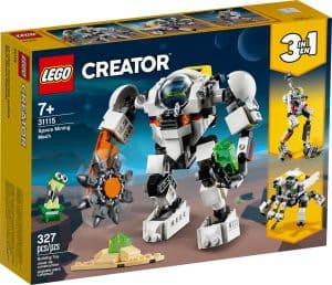 lego 31115 vesmirny tezebni robot