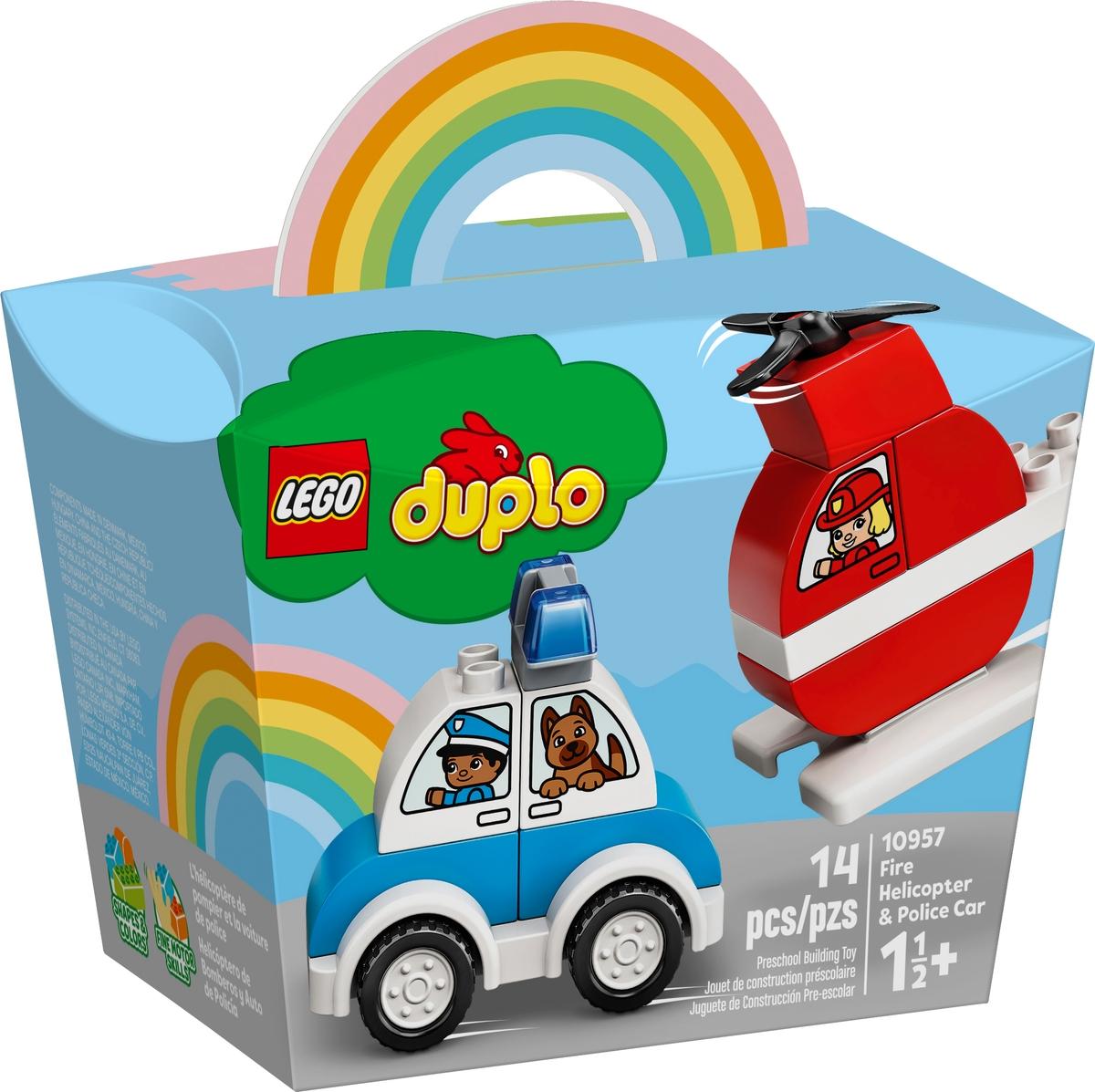 lego 10957 hasicsky vrtulnik a policejni auto