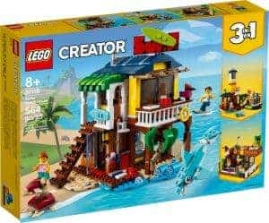 lego 31118 surfarsky dum na plazi
