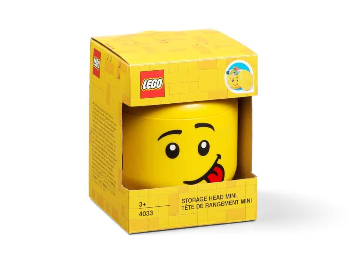 miniaturni lego 5006210 ulozny box hlava minifigurky blaznivy vyraz